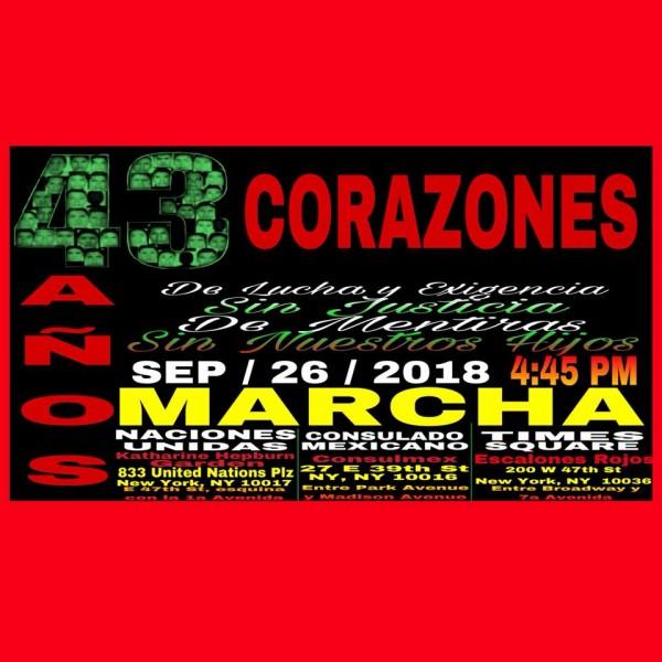 Foto: Colectivo de mexicanos organizados en Nueva York, comprometidos en la búsqueda de la verdad y la justicia.