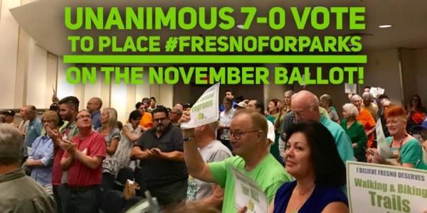 """Residentes de la ciudad de Fresno impulsan  la propuesta """"P"""" en la bolete de noviembre."""