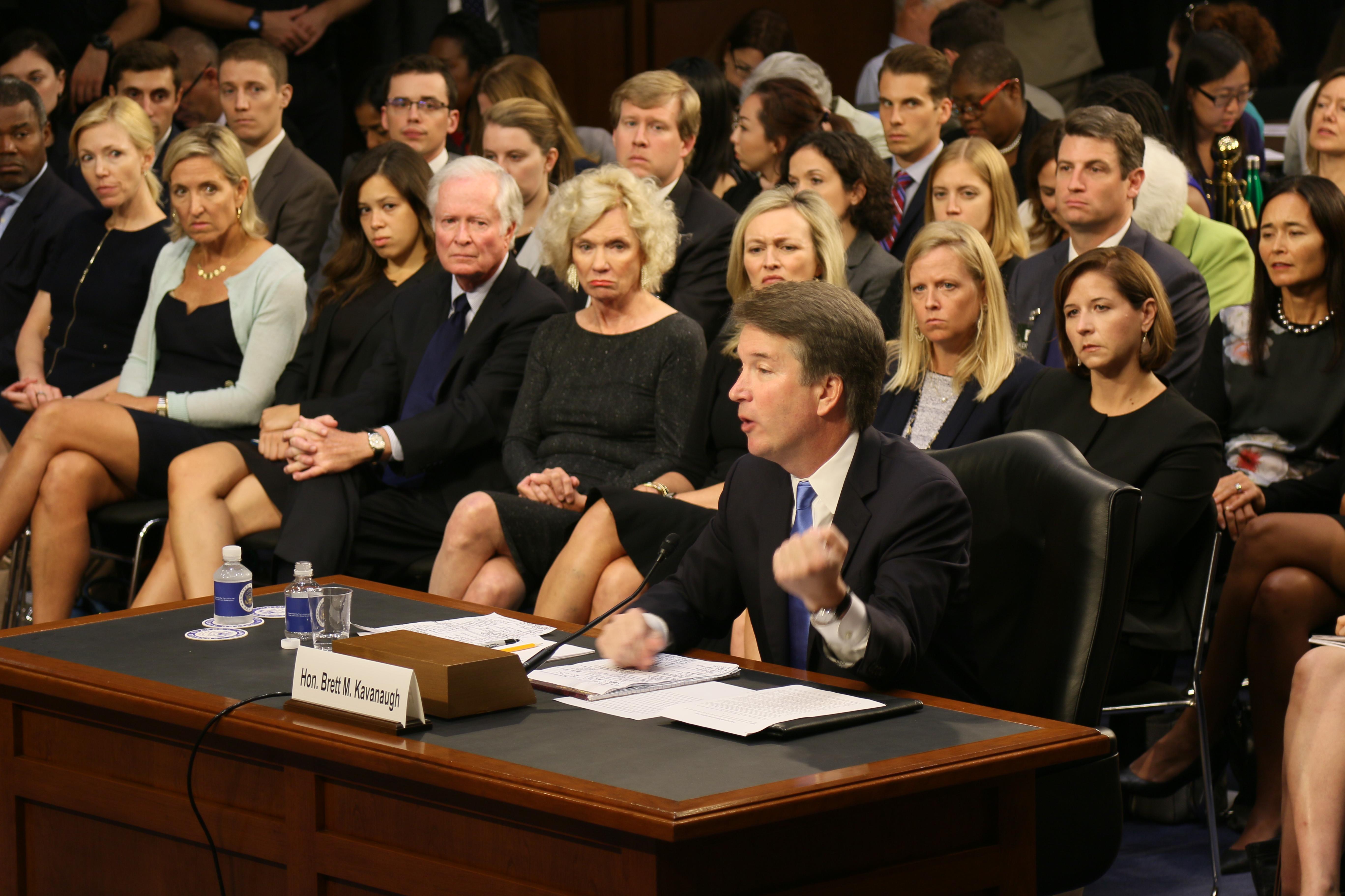 Juez Brett Kavanaugh durante la auddiencia de confirmación a la Suprema Corte de Justicia en el Comité Judicial del Senado. Foto: JLZ