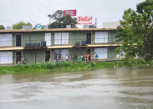 El área de Manchester, en Houston, Texas, inundada tras el Huracán Harvey.