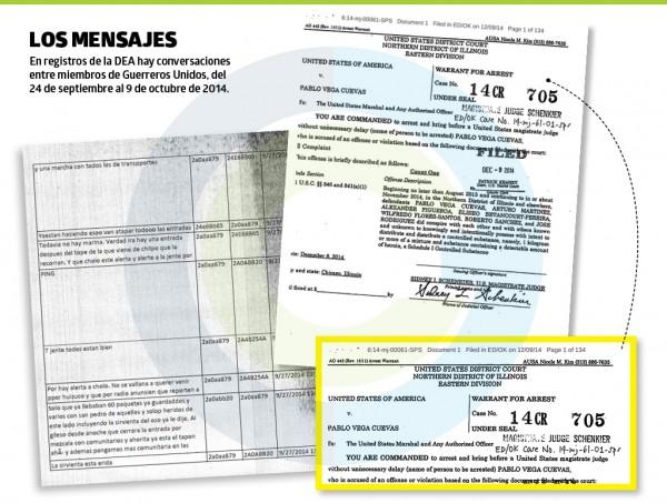 Documentos de la DEA. Foto: http://www.ejecentral.com.mx.