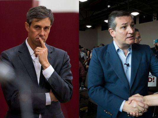 Beto O'Rourke (izq) responde espera responder en su turno a los ataques de Ted Cruz (der). Foto: El Paso Times.