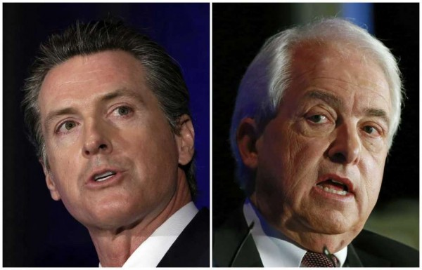 Candidates for the governorship of California in the elections of November 6, 2018, Gavin Newsom, current vice governor of California, and businessman John Cox, collide on various aspects in a public debate. Photo: mercurynews.com
