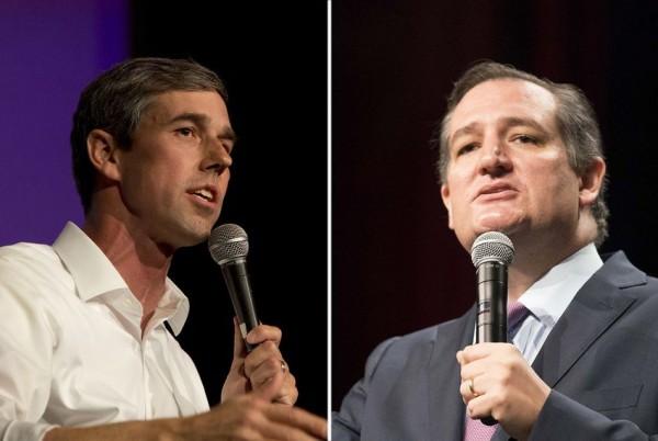 Beto O'Rourke, D-El Paso, Ted Cruz (R-Houston). Foto: The Texas Tribune.