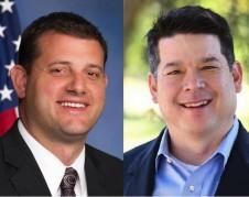 Izquierda: David Valadao (R-CD 21) y TJ Cox candidato demócrata. Foto: Fresnobee.