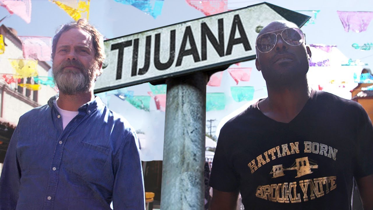 Rainn Wilson, un haitiano que si cruzó a Estados Unidos regresa a Tijuana periódicamente, por la comida haitiana. Foto: YouTube.