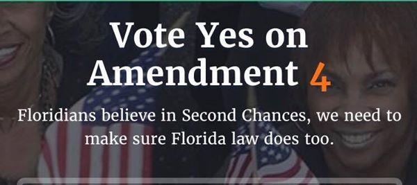 La campaña para ayudar a educar y movilizar a los Votantes de La Florida para que votaran SÍ a la 4ta Enmienda para dar a los ex convictos de un crimen una Segunda Oportunidad en La Florida. Foto: Village Voices.
