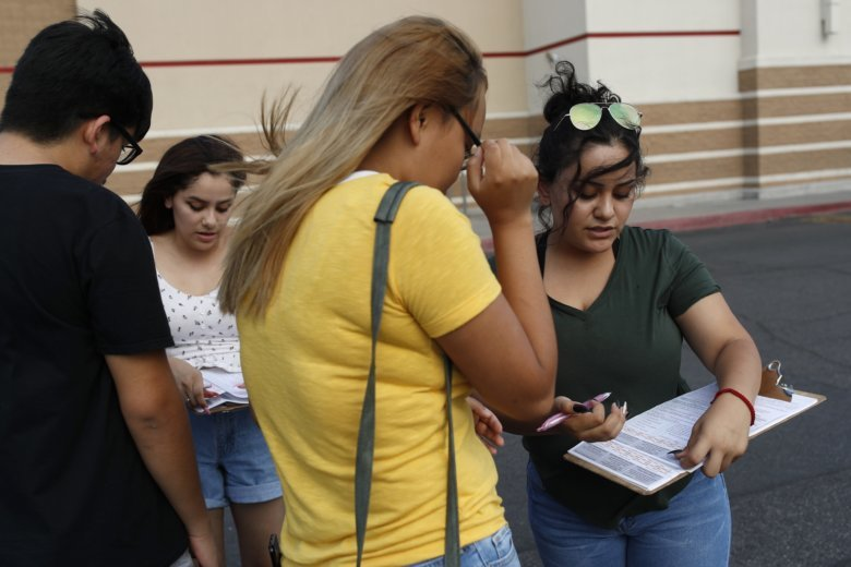 Nevada Democrats hope Latinos can propel them to victory | WTOP wtop.com LAS VEGAS (AP) — As temperatures topped 110 degrees last week outside a Latin American grocery store in Las Vegas, 19-year-old Diara Hernandez bounded up to customers, greeting them with...