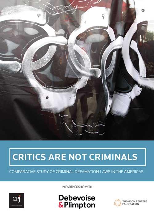 Los críticos no son delincuentes: estudio comparativo de las leyes de difamación penal en las Américas. Leyes de difamación penal en el Caribe. Foto: Comité para la Protección de los Periodistas.