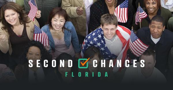 Población que se movilizó en La Florida para pasar la Enmienda 4. Foto: www.secondchancesfl.org.