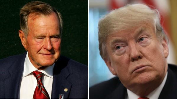 El presidente Trump deja de lado las diferencias en honor a George H.W. Bush. Foto: FOX 10 Phoenix.