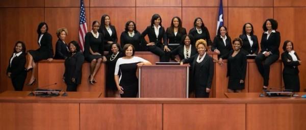 Las 19 magistradas negras, electas para liderar las cortes del condado Harris.