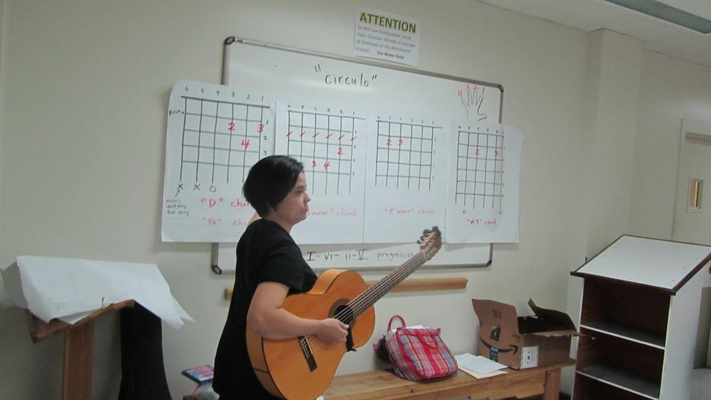 Mary Alfaro, les habla de los circulos musicales.