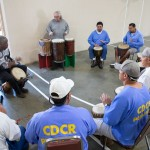 African drumming at Avenal State Prison.  Photo by Peter Merts, courtesy of the California Arts Council.