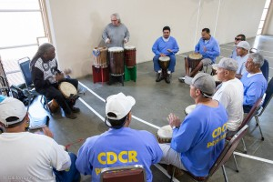 African drumming at Avenal State Prison by Abdullatif Bell Touncara. Photos by Peter Merts