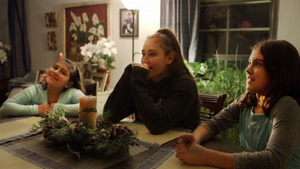 Las tres hijas de Cindy Shank. Foto: Los Angeles Times.