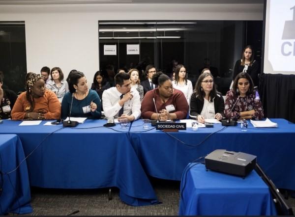 Otro momento en las audiencias de la CIDH. Foto: CIDH.