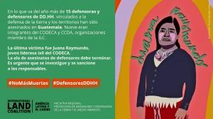 Coalición Internacional por la Tierra visita a Guatemala con motivo de la alarmante ola de asesinatos de líderes indígenas ligadas a los derechos humanos y a la defensa de sus territorios. Foto: Ollantay Itzamná / Word Press.