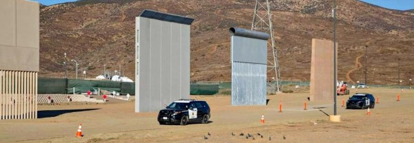 Ocho prototipos de muro fronterizo propuestos por Trump. Foto: Architectur Galery.