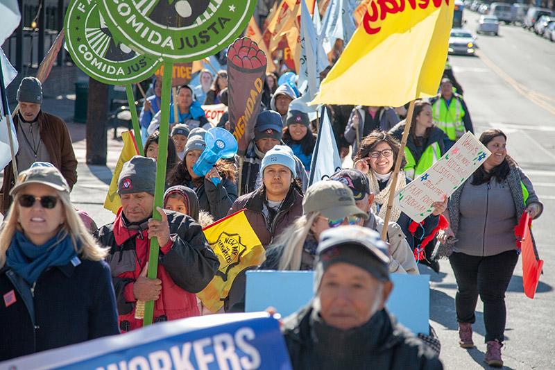 Trabajadores de la CIW en campaña en Carolina del Norte. Foto: ciw-online.org.