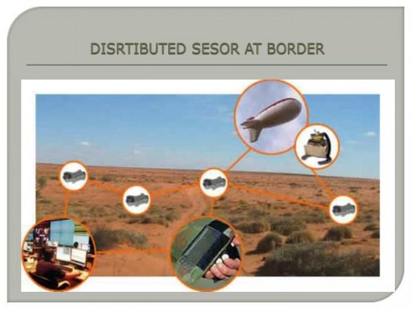 Sistemas de seguridad en la frontera. Foto: SlideServe.