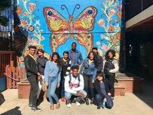 Proyecto de Mural de Clarion Alley, donde los artistas que participan buscaron explorar cómo se puede usar el arte como una forma de resistencia en un contexto moderno. Foto: haasinstitute.berkeley.edu.