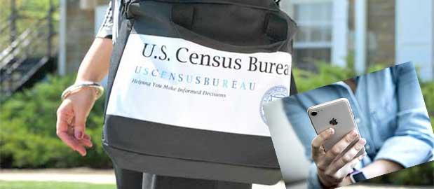 Encuestadores de la Oficina del Censo recorriendo comunidades para asegurarse de que todos en Estados Unidos respondan al Censo 2020. Foto: The Bronx Free Press.