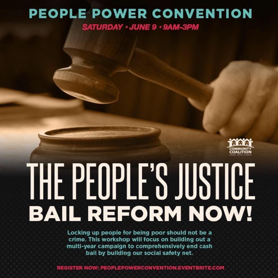 Campana por la reforma a las fianzas. Foto: Community Coalition