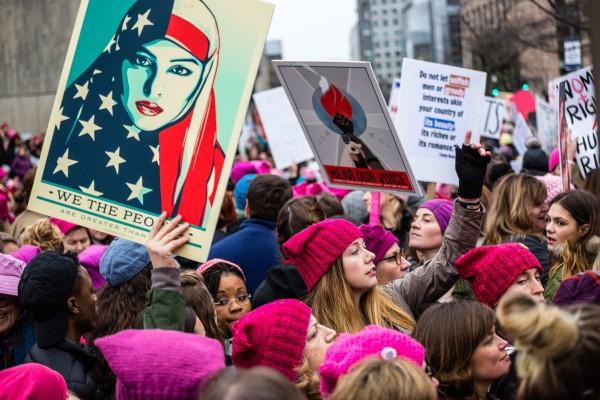 La tercera Marcha anual de las Mujeres, enero 19 de 2019 en la capital del país. Foto: e-News.US.