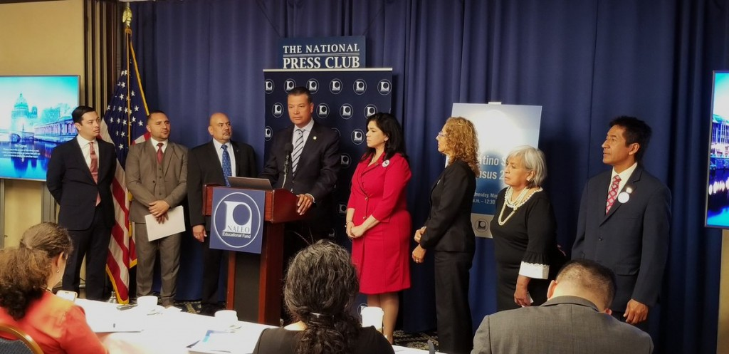 CA Secretary of State Alex Padilla shared the findings of a report from the NALEO's National Latino Commission on Census 2020, which found the accuracy of the #2020Census count is in serious jeopardy. Photo: CA SOS via Twitter