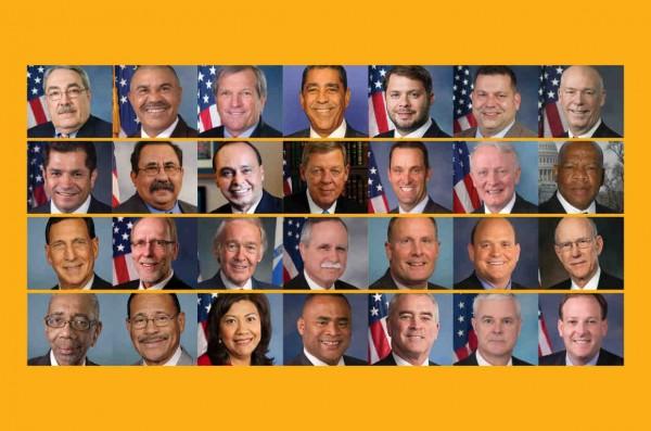 El reconocimiento facial equivocado que hizo la tecnología de Amazon entre un gruupo de congresistas. Foto: ACLU.