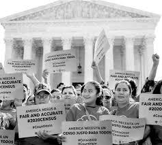 Manifestación frente a la Corte Suprema para exigir un conteo decenal complete. Foto: Esperanza Peace and Justice Center.