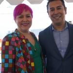 la Diretora de la Galeria de la Raza Ani Rivera junto a Feliciano Vera. Foto: Fernando Andrés Torres