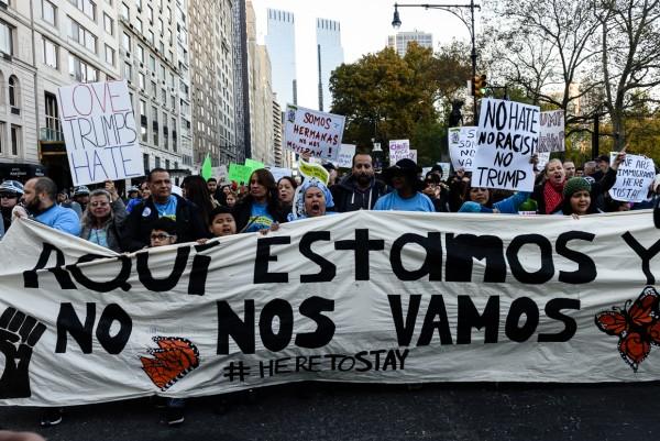 En una de las manifestaciones de apoyo a los Soñadores, en el Parque central de la ciudad de Nueva York. Foto: MVG.