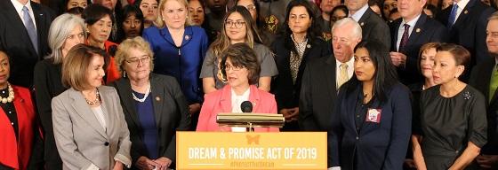 Anunciando la introducción del Dream and Promise Act 2019 en el Capitolio de los Estados Unidos. Foto: https://roybal-allard.house.gov.