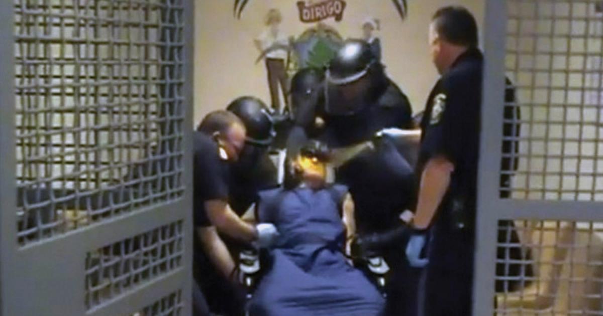 Uso de la fuerza contra presos con discapacidades mentales en cárceles y prisiones de Estados Unidos. Foto: Human Watch Rights.