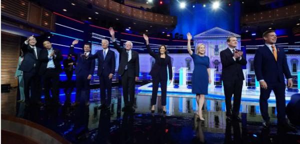 Segundo debate democrata por la nominación para las elecciones presidenciales del 2020.