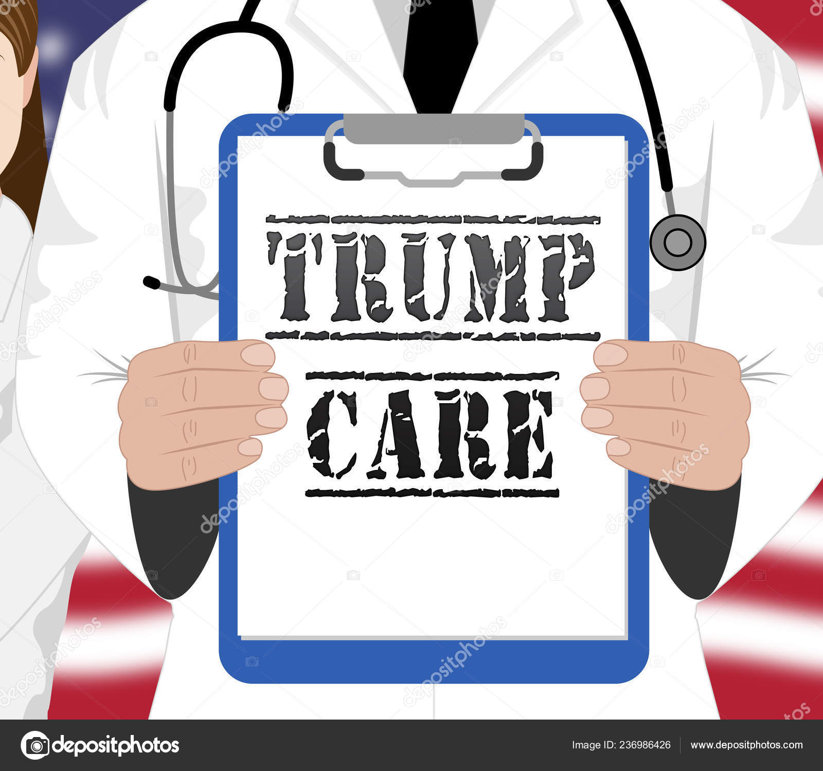Trumpcare Or Trump Care Health Repeal Of Obamacare Aca. Medical Healthcare Insurance Coverage - 3d Illustration — Photo by stuartmiles