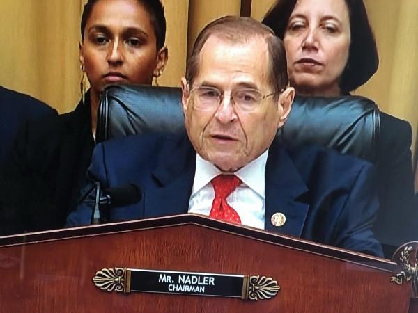 Jerry Nadler, congresista demócrata por Nueva York y presidente del Comité de Justicia de la Cámara de Representantes, quien presidió la primera comparecencia con el fiscal Mueller.
