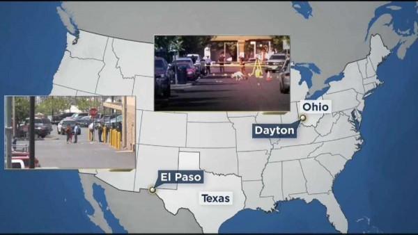 Balaceras en El Paso, Texas y en Dayton, Ohio. Foto: www.assistnews.net.