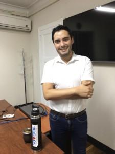 Matías Ponce, uruguayo que reconoce la valiente protección que le brindaron los periodistas.