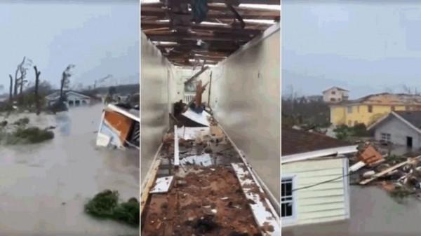 El paso del huracán Dorian de categoría 5 dejó inundaciones y destrucción en las islas Ábaco, Bahamas. Foto: Tribune242/BahamasPress/Twitter.