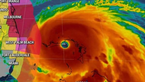 Huracán Doria en su trayectoria por la costa este de E UU. Foto: KRON4.com