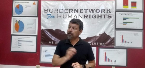 Fernando García, director ejecutivo de la Red Fronteriza de Derechas Humanos, una de las organizaciones demandantes contra la medida del presidente Trump Emergencia Nacional. Foto: Red Fronteriza de Derechas Humanos.
