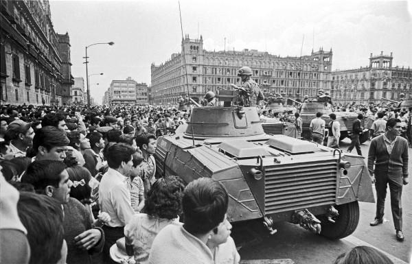 Así se vivían los días en la capital mexicana durante los meses de 1968. Foto: Wikipedia.