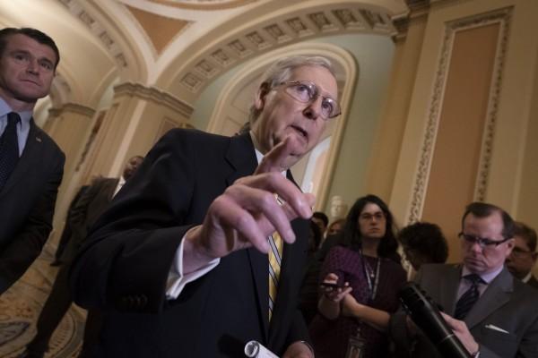 Mitch McConnell, anunció quien mientras esté él como líder del Senado, el proceso de revocación ve mandato necesitara la supermayoría para llegar al piso de esa cámara que él preside.  http://www.salamancapress.com.