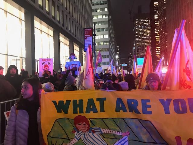El comienzo de la marcha de los Trabajadores de Immokalee en la ciudad de Nueva York.