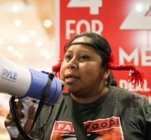Lupe Gonzalo, organizadora de la Coalición de Trabajadores de Immokalee.