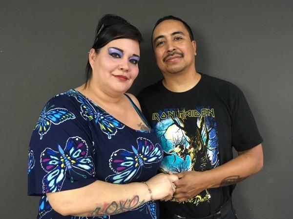 Sandra López y su esposo Rodolfo en espera de la residencia legal de ella para poder vivir juntos.