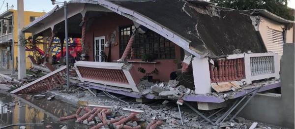 Daños causados por el reciente temblor de tierra en Puerto rico. Foto: Florida Catholic.